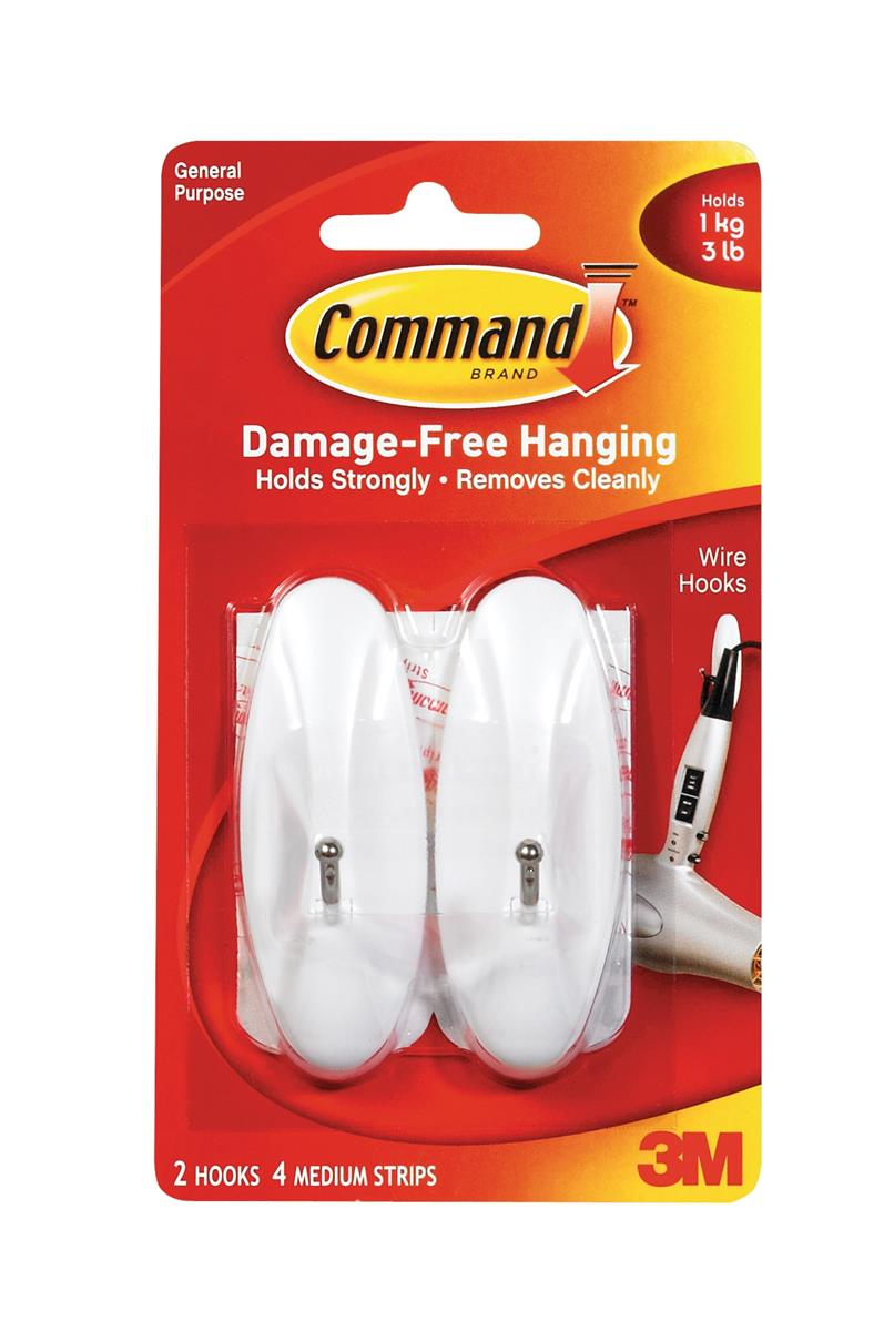 Image for Command Adhesive Wire Hook Medium Ref 17068 [Pack 2]