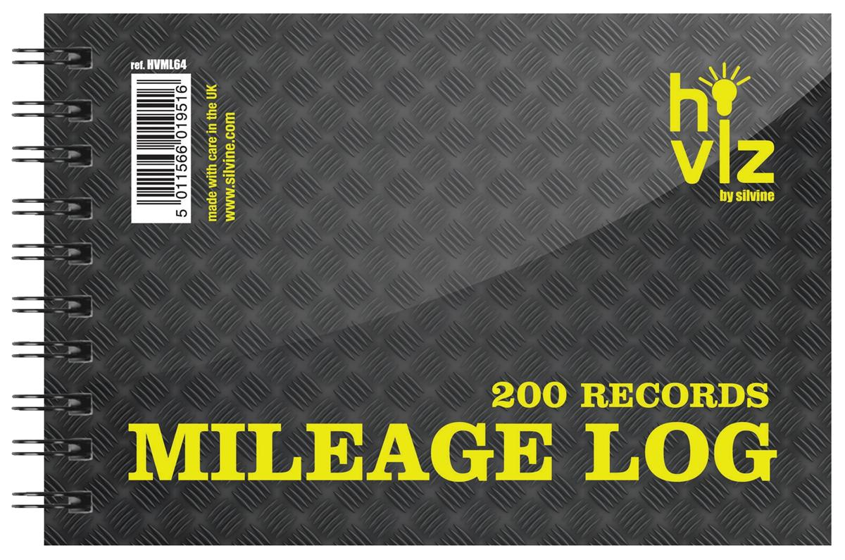 Image for Silvine Mileage Log Book 50pp 75gsm 152x102mm Ref HVML64
