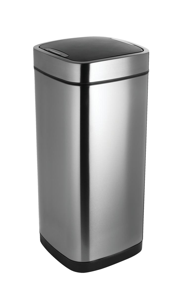 Image for Addis Deluxe Square Waste Bin 40 Litre Press Top Stainless Steel Ref 513914