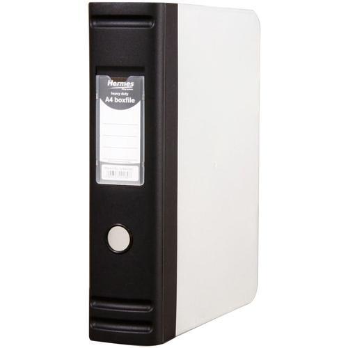 Image for Hermes Box File Polypropylene 80mm Spine A4 Black Ref 8BA4001