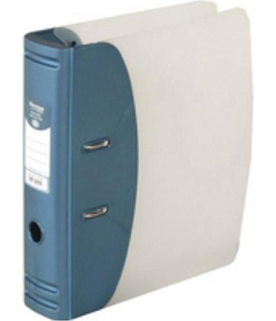 Image for Hermes Lever Arch File Polypropylene Capacity 50mm A4 Metallic Blue Ref 832007