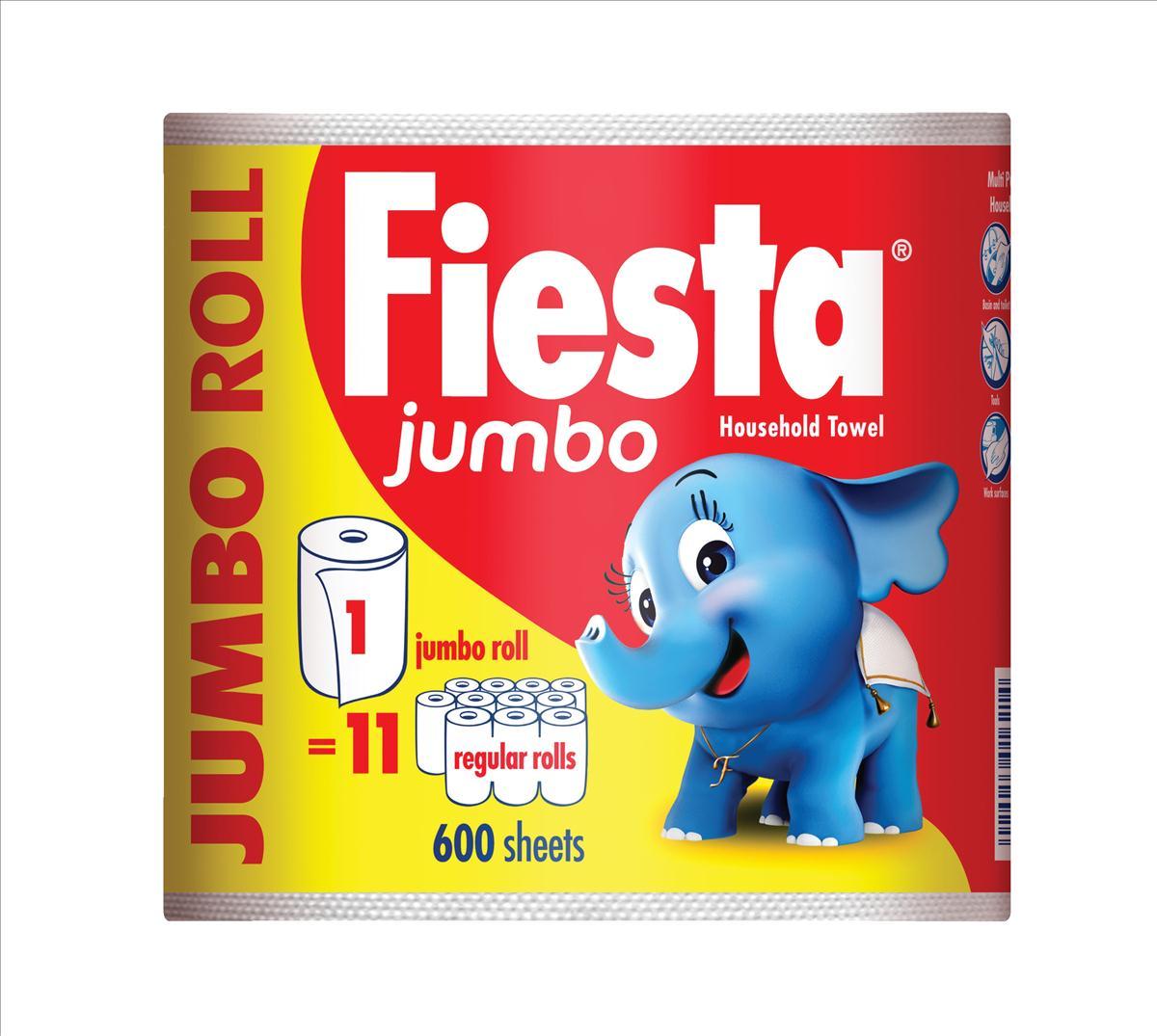 Fiesta Kitchen Towel Jumbo Roll 600 Sheets Ref M01387