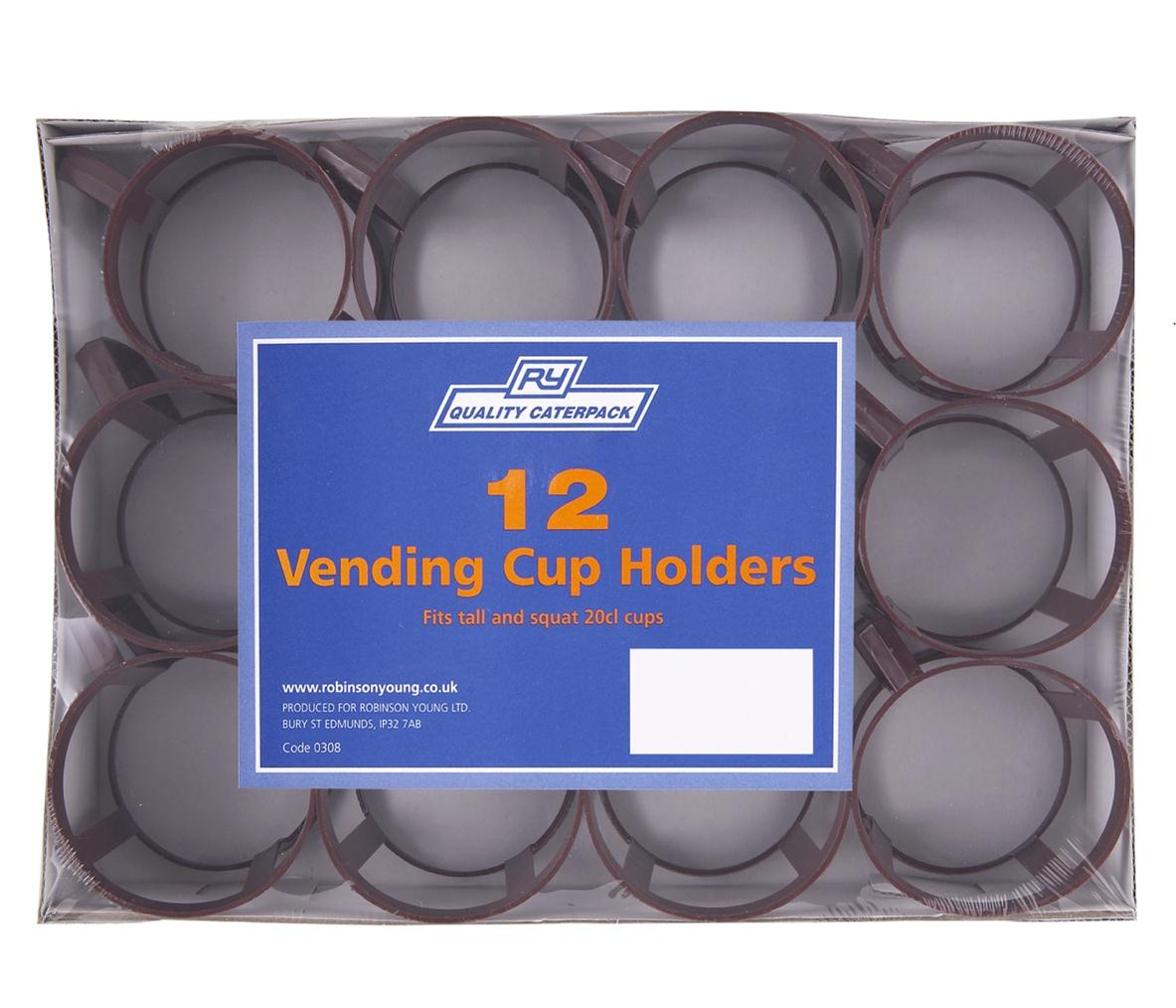 Robinson Young Caterpack Vending Cup Holder Fits 20cl Cup Plastic Ref RY00308 [Pack 12]