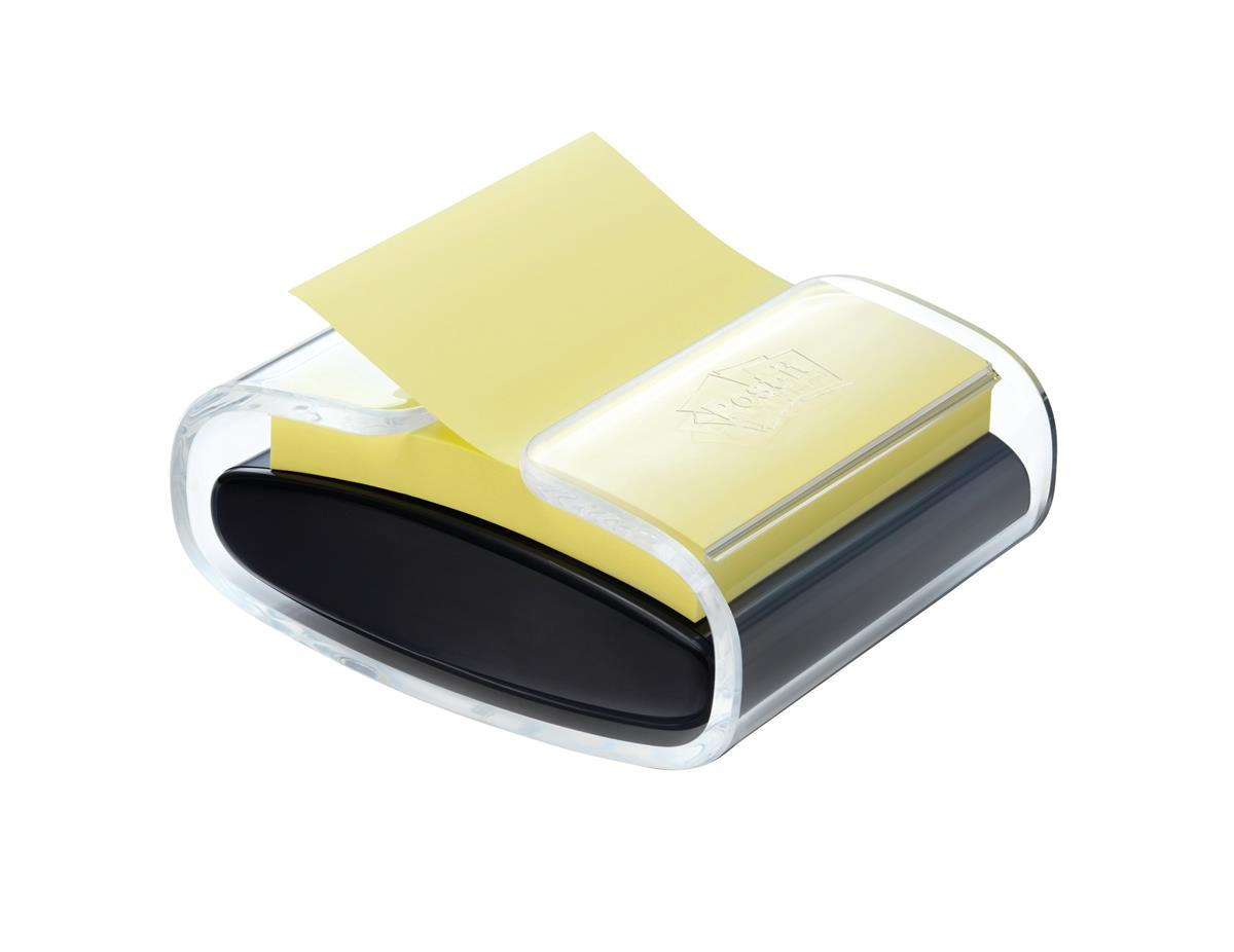 Image for Post-it Pro Z-Note Dispenser and One Pad 76x76mm Black Ref NPRO-B-1SSCYR330-EU