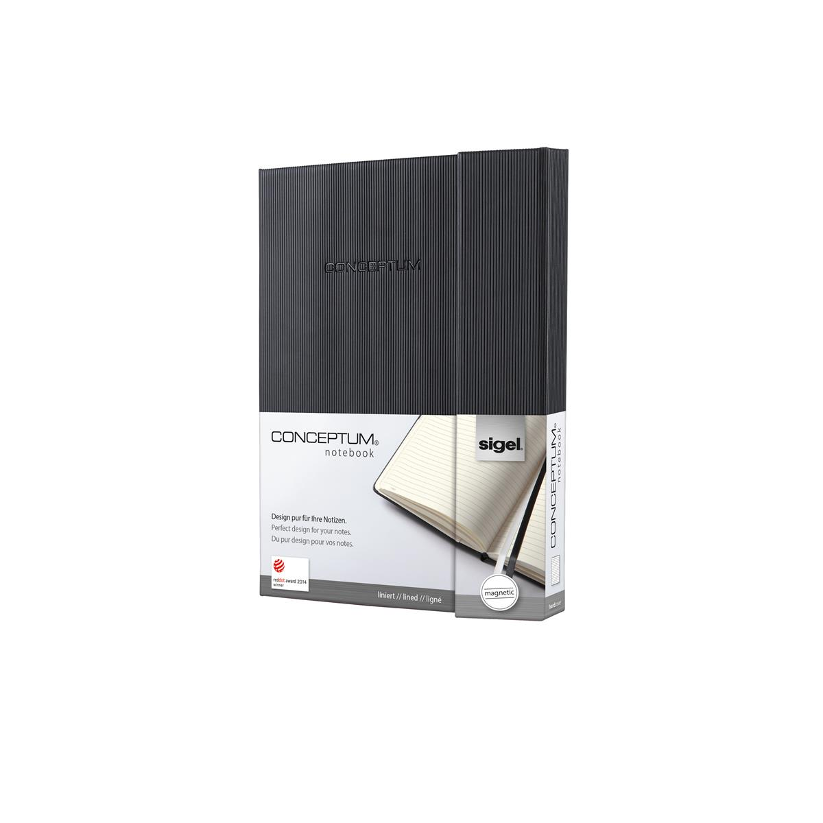 Image for Sigel Conceptum Notebook Hard Cover Magnetic Fastener 80gsm Ruled 194pp A5 Ref CO162