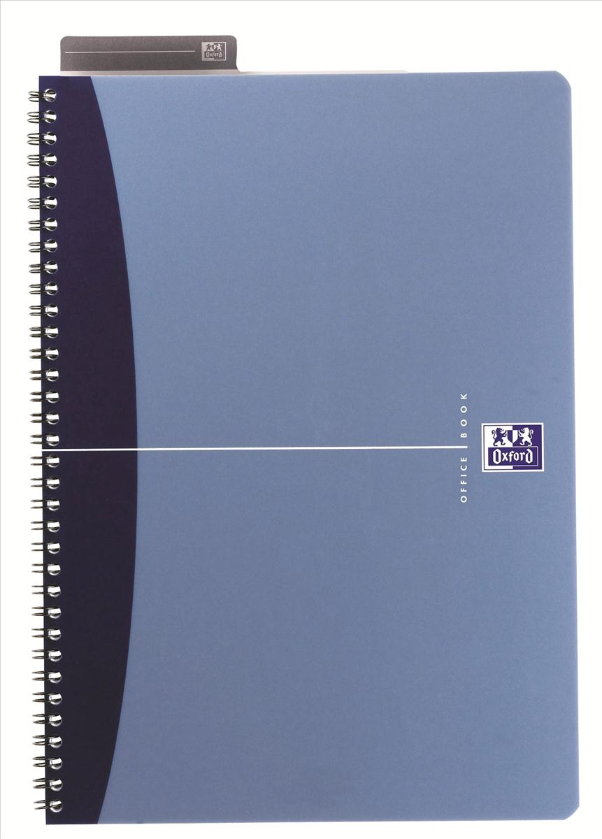 Image for Oxford Metallics Notebook Wirebound Polypropylene Ruled 180pp 90gsm A5 Blue Ref 400051961 [Pack 5]