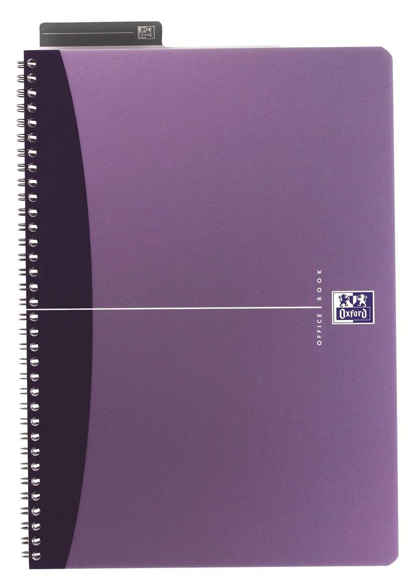Oxford Metallics Notebook Wirebound Polypropylene Ruled 180pp 90gsm A5 Purple Ref 400051960 [Pack 5]