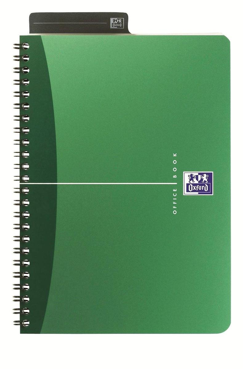 Image for Oxford Metallics Notebook Wirebound Polypropylene Ruled 180pp 90gsm A4 Green Ref 400051873 [Pack 5]