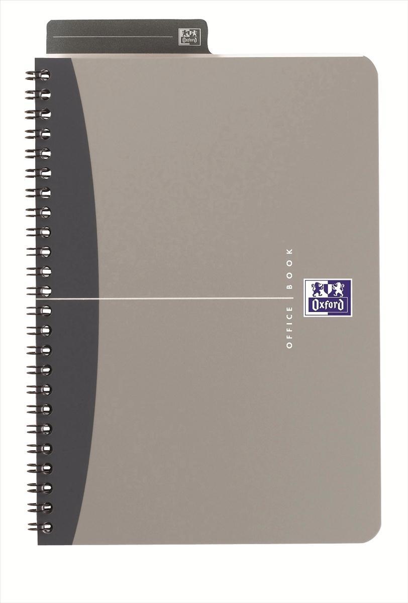 Oxford Metallics Notebook Wirebound Polypropylene Ruled 180pp 90gsm A4 Grey Ref 400051877 [Pack 5]