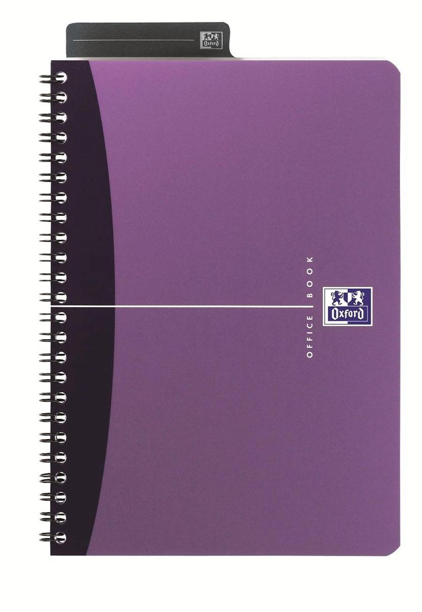 Image for Oxford Metallics Notebook Wirebound Polypropylene Ruled 180pp 90gsm A4 Purple Ref 400051875 [Pack 5]