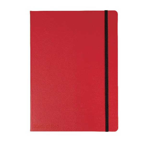 Image for Red By BlackNRed Business Journal Book Hard Cover 90gsm Numbered Pages B5 Ref 400051200