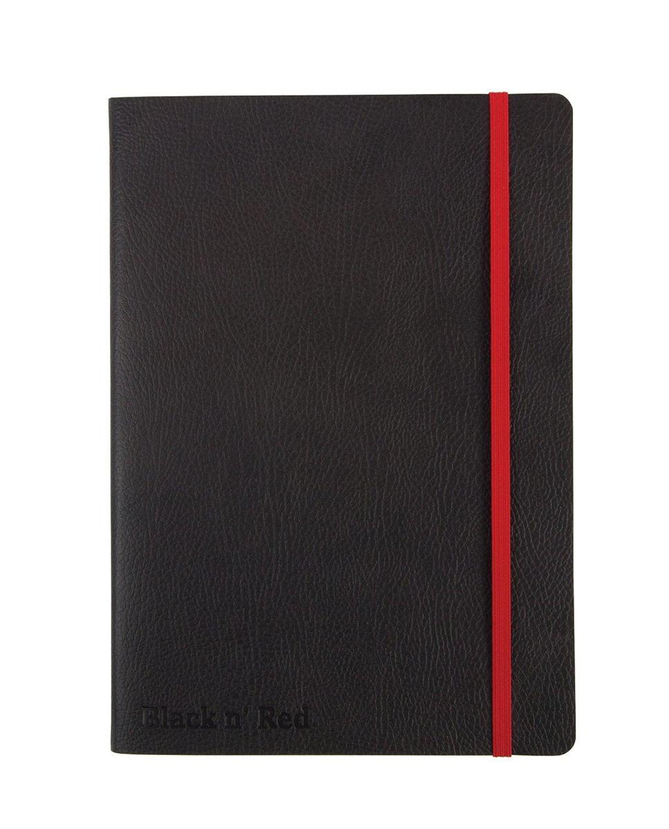 Image for Black By Black n Red Business Journal Book Soft Cover 90gsm Numbered Pages A6 Ref 400051205