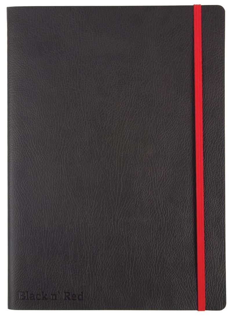 Image for Black By Black n Red Business Journal Book Soft Cover 90gsm Numbered Pages A5 Ref 400051204