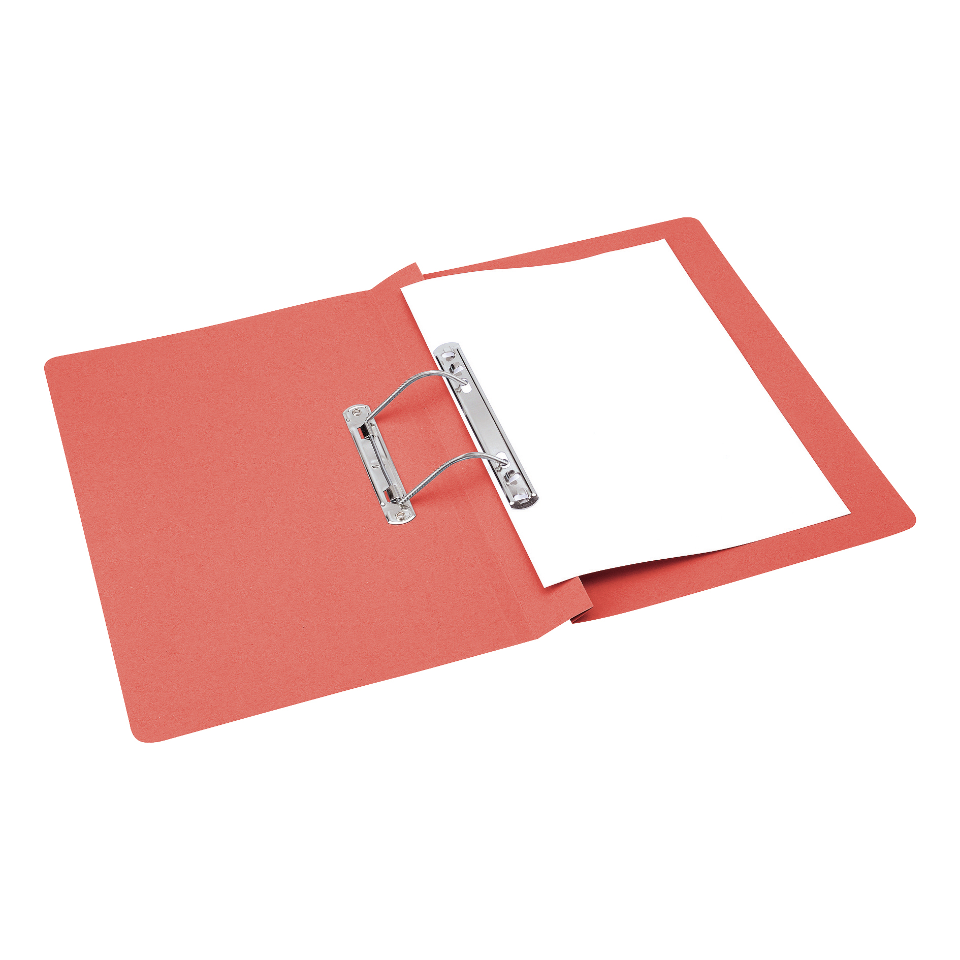 Spring Files 5 Star Office Transfer Spring File Mediumweight 285gsm Capacity 38mm Foolscap Red Pack 50