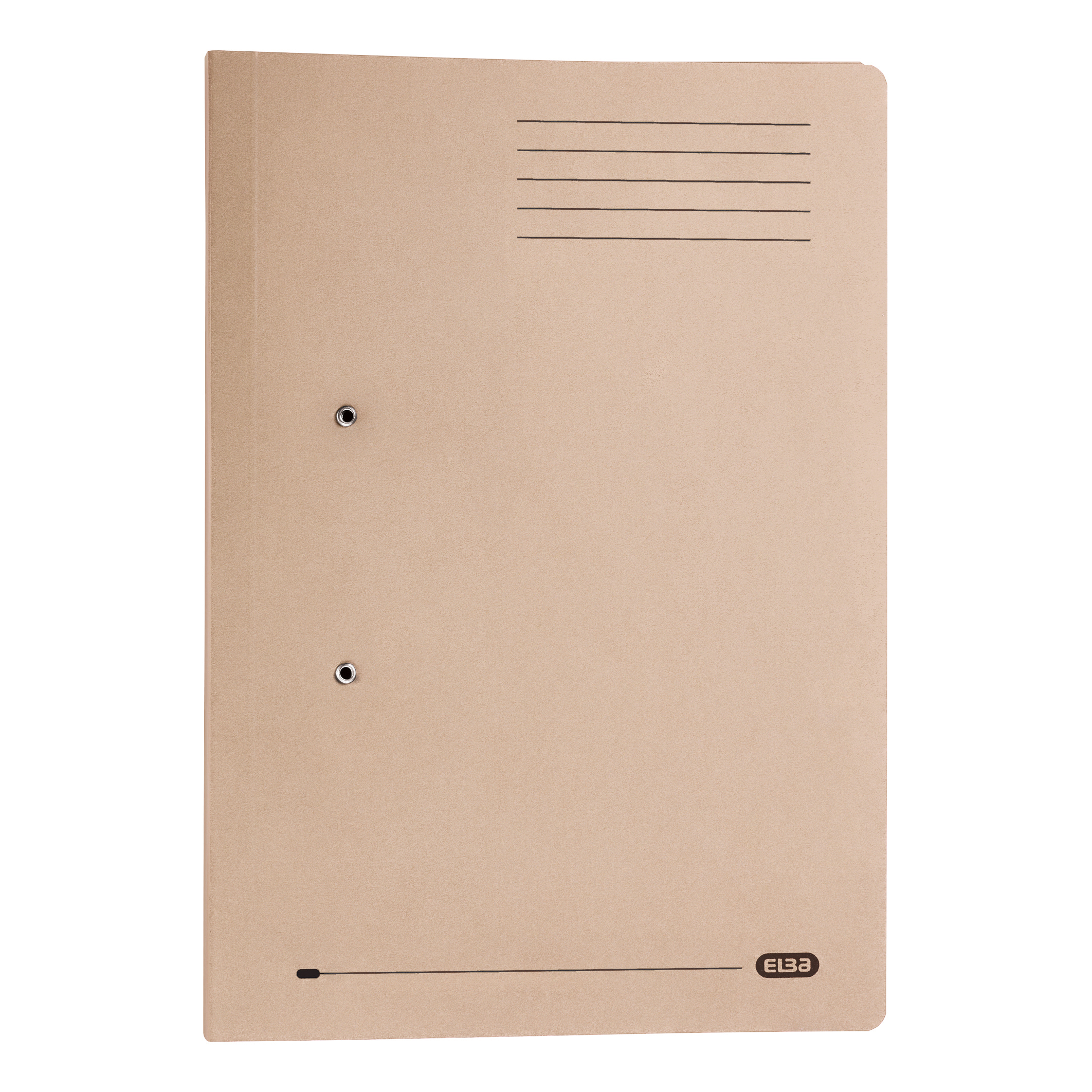 Elba Strongline Transfer Spring File Recycled Pocket 320gsm 36mm Foolscap Buff Ref 100090145 Pack 25