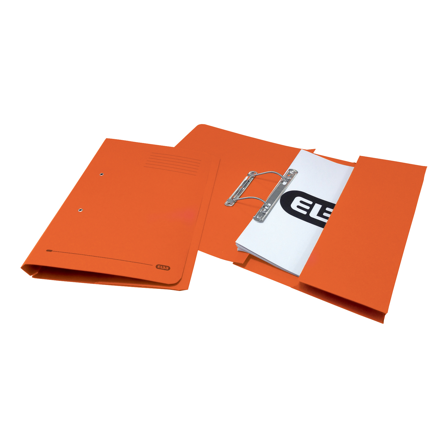 Elba Strongline Transfer Spring File Recycled Pocket 320gsm 36mm Foolscap Orange Ref 100090148 [Pack 25]