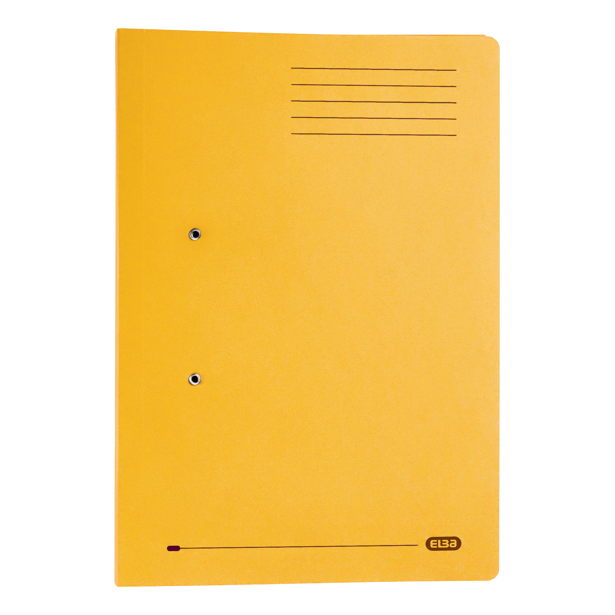 Elba Strongline Transfer Spring File Recycled Pocket 320gsm 36mm Foolscap Yellow Ref 100090150 Pack 25