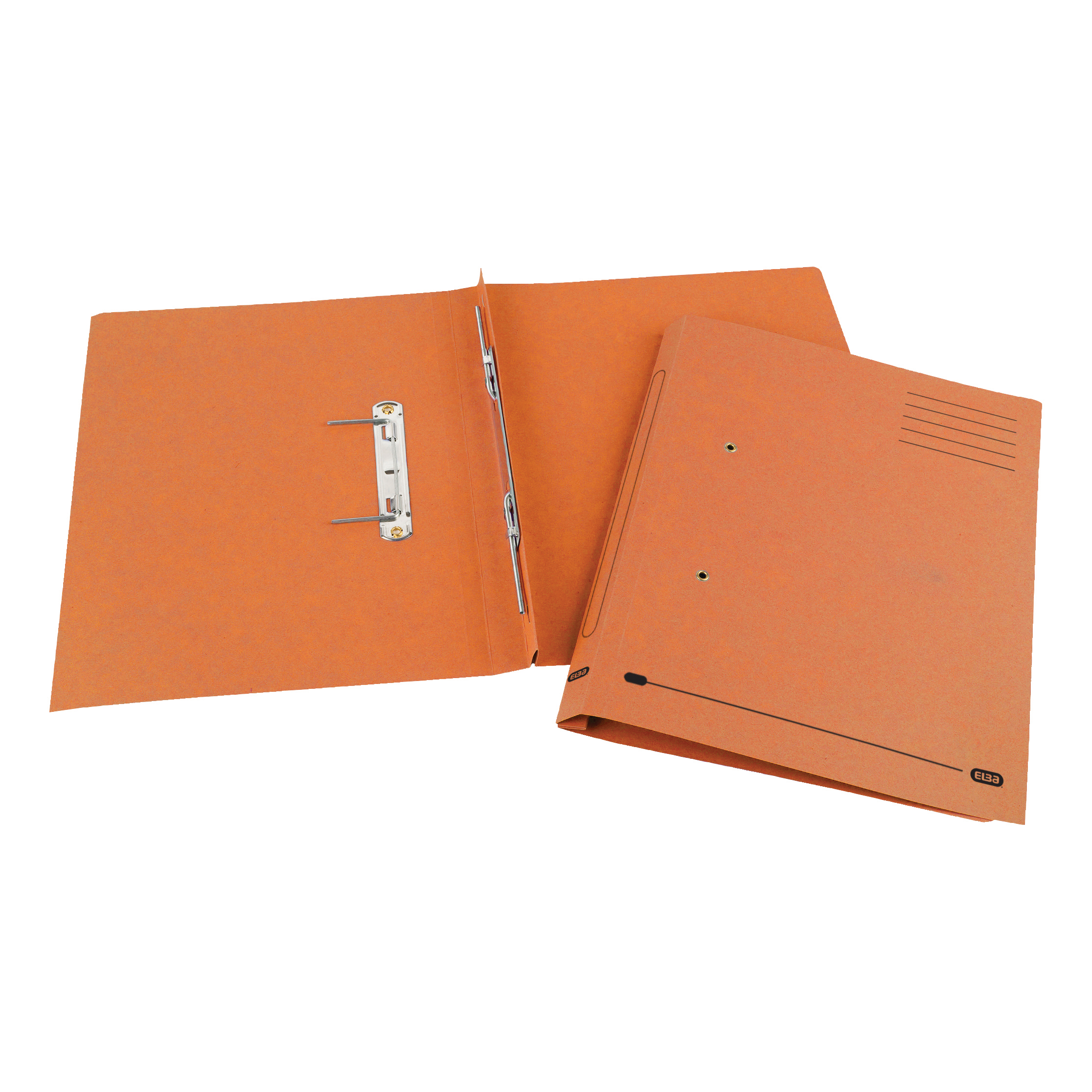 Elba Spirosort Transfer Spring File Recycled Mediumweight 285gsm Foolscap Orange Ref 100090161 [Pack 25]