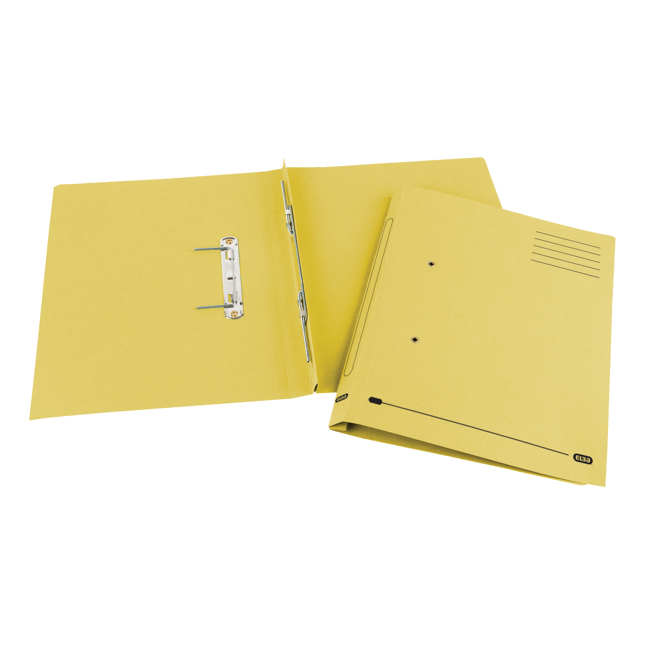 Elba Spirosort Transfer Spring File Recycled Mediumweight 285gsm Foolscap Yellow Ref 100090163 [Pack 25]