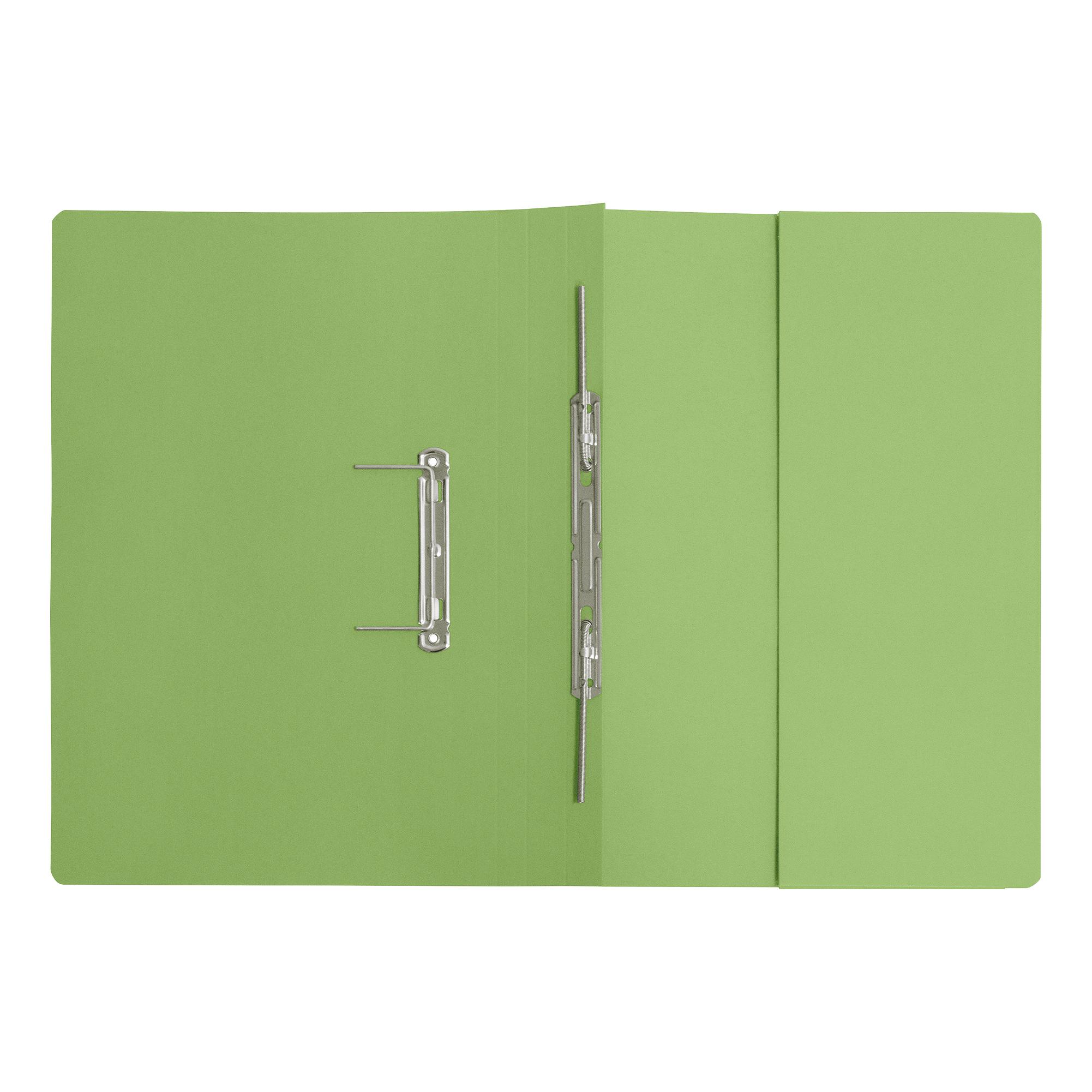5 Star Elite Transfer Spring Pocket File Super Heavyweight 380gsm Foolscap Green [Pack 25]