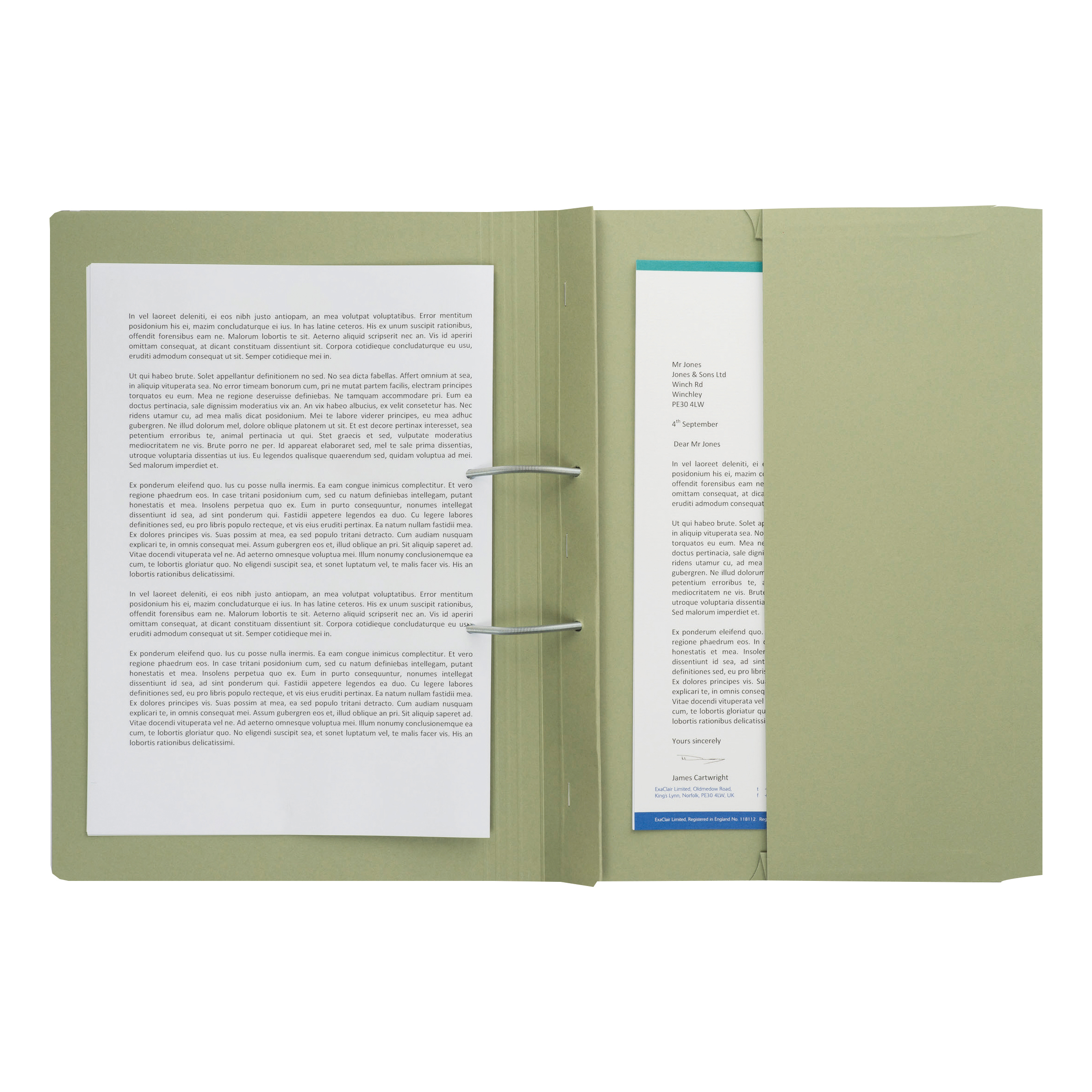 Guildhall Transfer Spring File 315gsm Back Pocket Foolscap Green 211/9062Z Pack 25