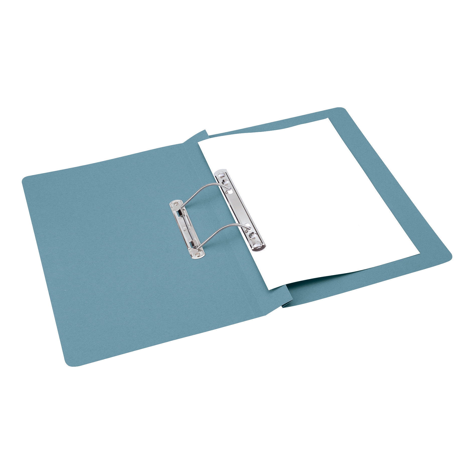 Spring Files 5 Star Office Transfer Spring File Mediumweight 285gsm Capacity 38mm Foolscap Blue Pack 50