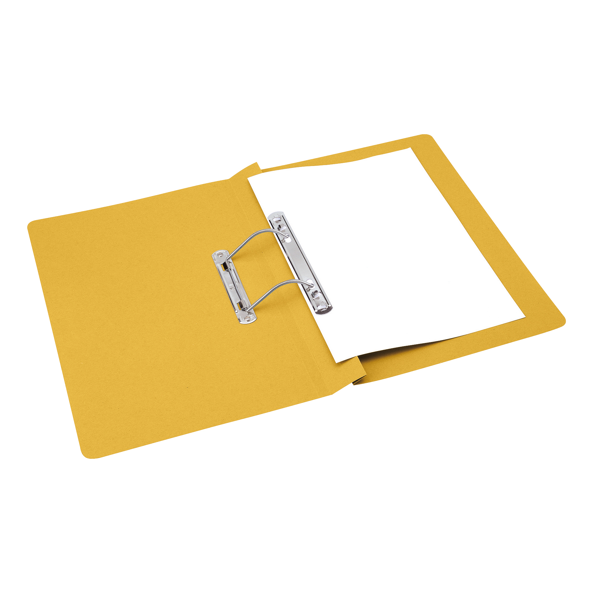 Spring Files 5 Star Office Transfer Spring File Mediumweight 285gsm Capacity 38mm Foolscap Yellow Pack 50