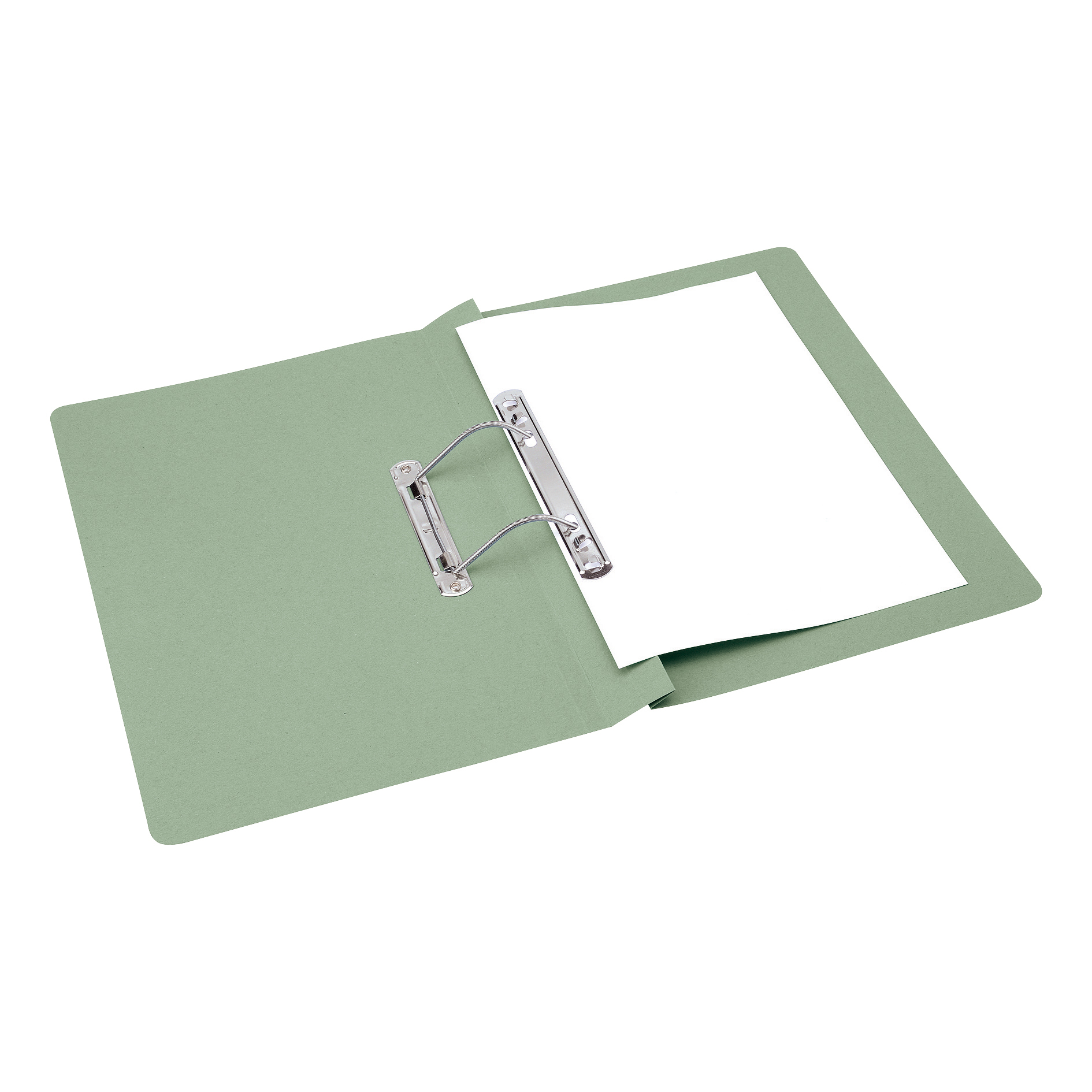 Spring Files 5 Star Office Transfer Spring File Mediumweight 285gsm Capacity 38mm Foolscap Green Pack 50