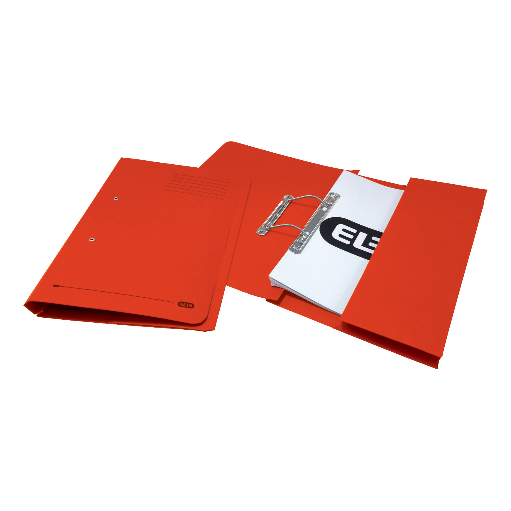 Elba Strongline Transfer Spring File Recycled Pocket 320gsm 36mm Foolscap Red Ref 100090278 Pack 25