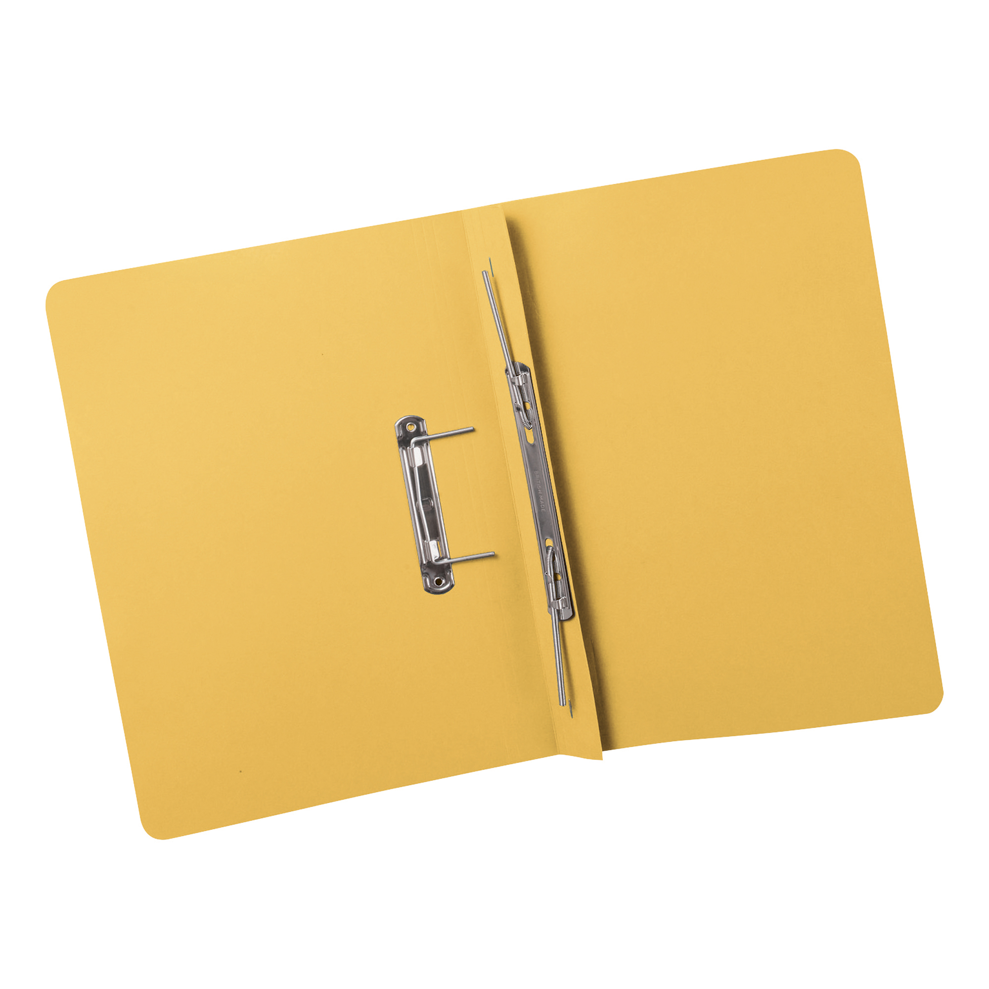 5 Star Elite Transfer Spring File Super Heavyweight 380gsm Capacity 38mm Foolscap Yellow [Pack 25]