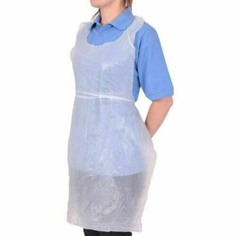 Protective aprons White Disposable Apron 22.5mu Roll of 100x6