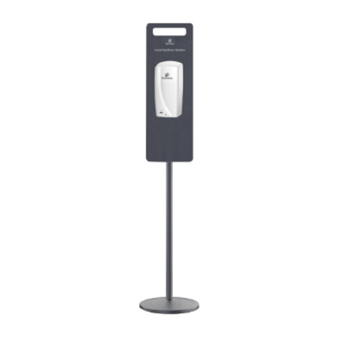 Institutional soap or lotion dispensers Pole Stand For Touch Free Dispenser (Not Included) Satin Grey 1425mm High Fits Code DIS13603