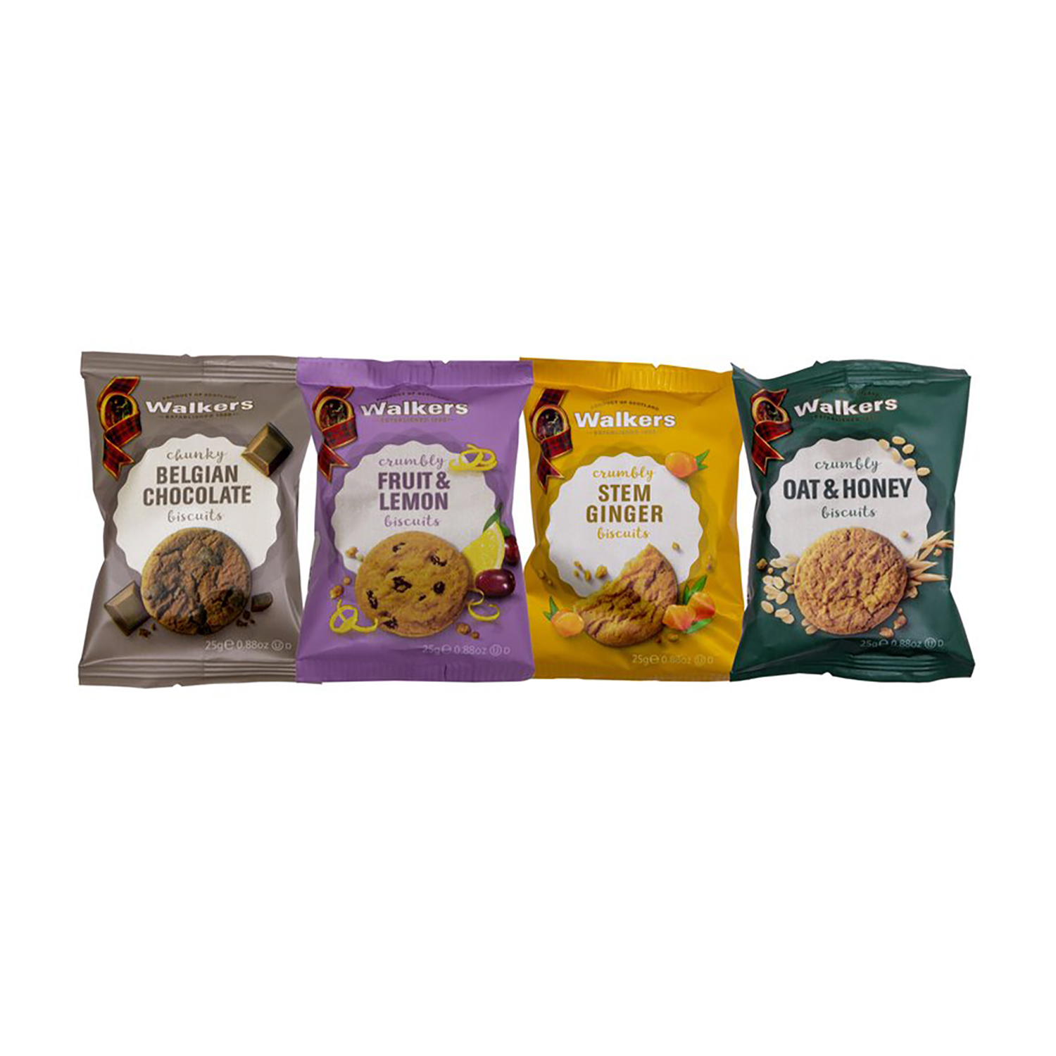 Biscuits Walkers Biscuits 4 Varieties Twinpack 25g Ref NST422Pack 100
