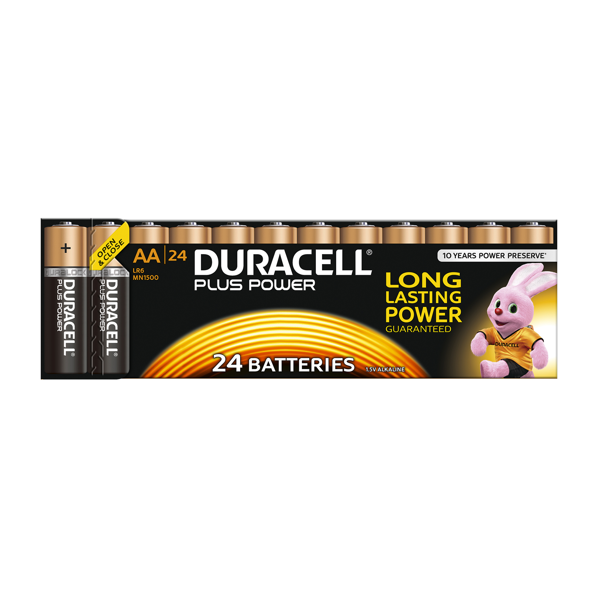 AA Duracell Plus Power Battery Alkaline 1.5V AA Ref 81275383 Pack 24