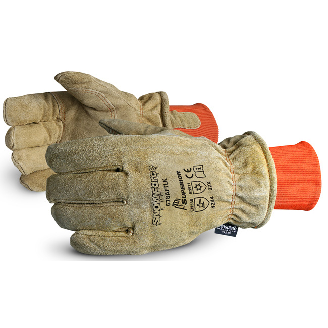 Superior Glove Snowforce Leather Freezer Glove Beige Ref SU678AFTLK *Up to 3 Day Leadtime*