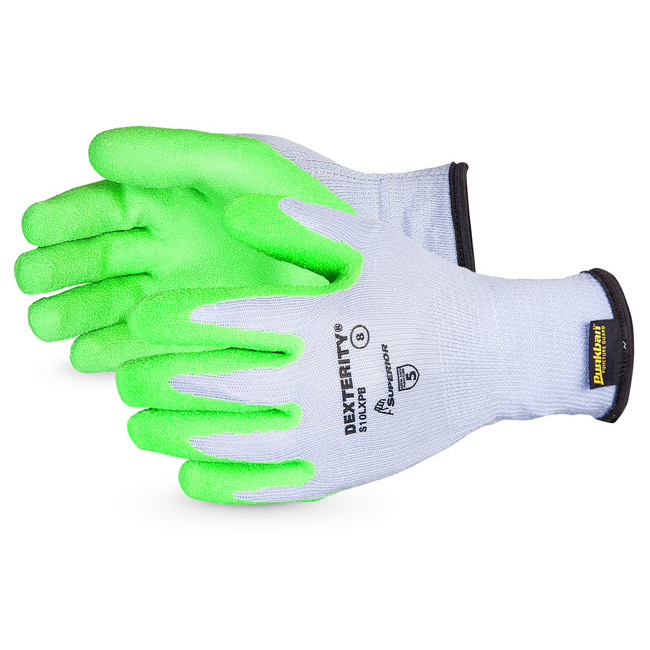 Superior Glove Dexterity 10-G Hi-Vis Latex Palm Size 10 Green Ref SUS10LXPB10 Upto 3 Day Leadtime