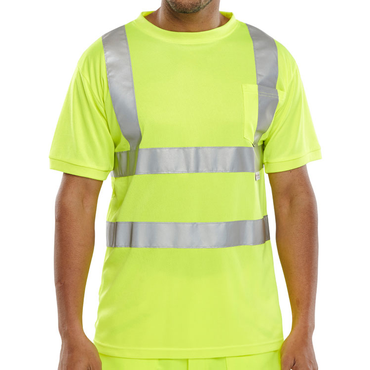 B-Seen T-Shirt Crew Neck Hi-Vis L Saturn Yellow Ref BSCNTSENSYL *Up to 3 Day Leadtime*