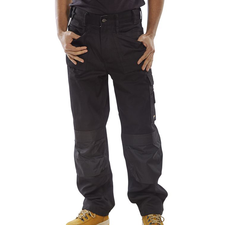 Click Premium Trousers Multipurpose Holster Pockets 30-Tall Black Ref CPMPTBL30T Up to 3 Day Leadtime