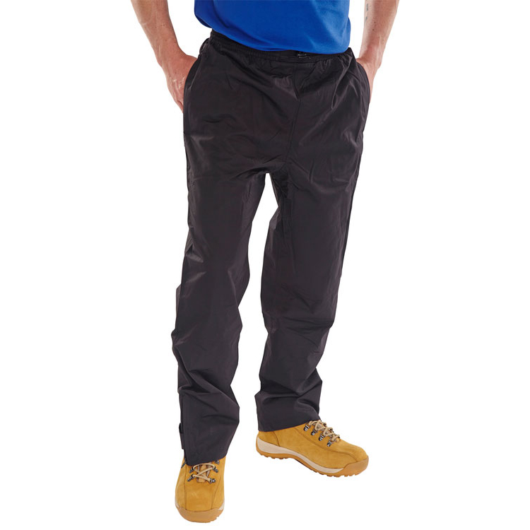 B-Dri Weatherproof Springfield Trousers Breathable Nylon L Black Ref STBLL Up to 3 Day Leadtime