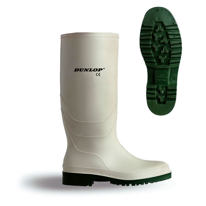 Footwear Dunlop Pricemastor Wellington Boot Size 9 White Ref BBW09 *Up to 3 Day Leadtime*