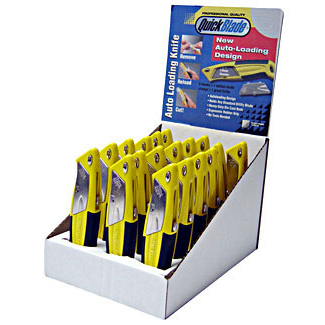 Pacific Handy Cutter Display Case Autofeed Knives Assorted Ref DBQBA-18 Pack 18 *Up to 3 Day Leadtime*