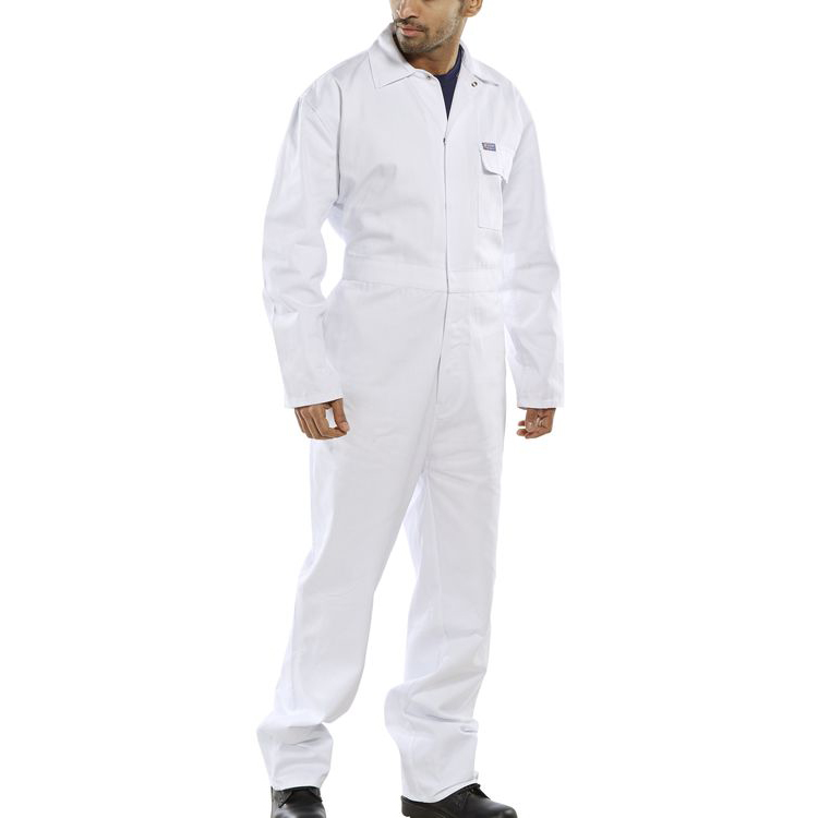 Click Workwear Cotton Drill Boilersuit White Size 52 Ref CDBSW52 *Up to 3 Day Leadtime*
