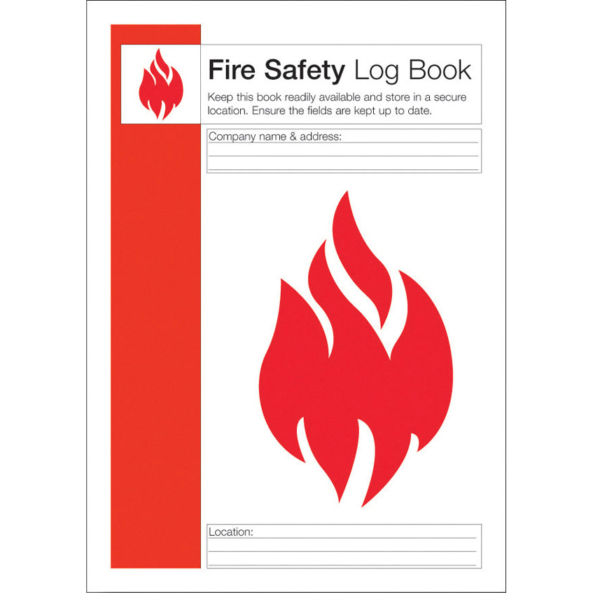 Click Medical Fire Safety Log Book To Record Fire Procedures Ref CM1325 *Up to 3 Day Leadtime*