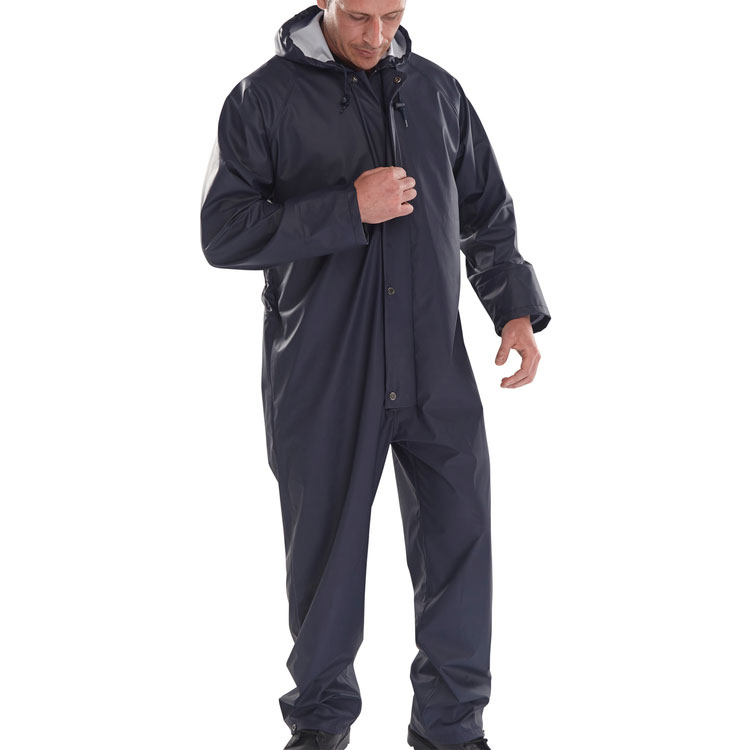 B-Dri Weatherproof Brecon Transfer Coated Coveralls 3XL Navy Blue Ref BRECCNXXXL *Up to 3 Day Leadtime*