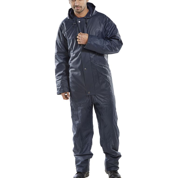 Super B-Dri Weatherproof Padded Coveralls XL Navy Blue Ref SBDQCNXL *Up to 3 Day Leadtime*