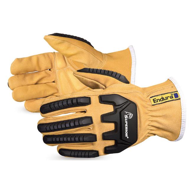 Hand Protection Superior Glove Endura Oilbloc Anti-Impact Driver Glove Medium Tan Ref SU378GKGVBM *Up to 3 Day Leadtime*