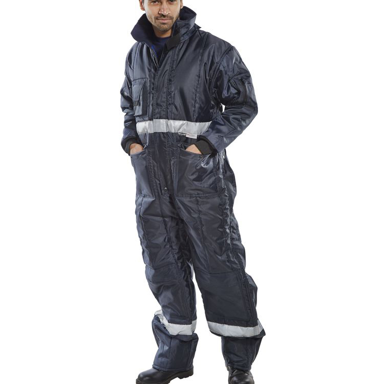 Coldstore Freezer Click Freezerwear Coldstar Freezer Coveralls Navy Blue L Ref CCFCNL *Up to 3 Day Leadtime*