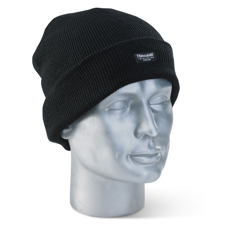 Click Workwear Thinsulate Beenie Hat Black Ref THHBL [Pack 10] *Up to 3 Day Leadtime*