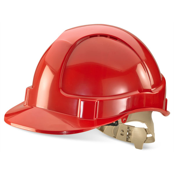 Head Protection B-Brand Comfort Vented Safety Helmet Red Ref BBVSHR *Up to 3 Day Leadtime*