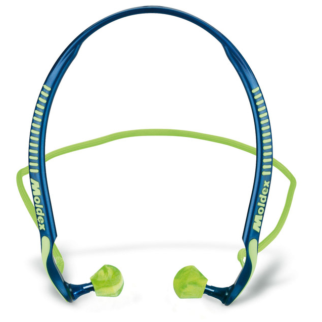 Ear Protection Moldex 6700 Jazz-Band 2 Banded Earplugs Blue/Green Ref M6700 Pack 8 *Up to 3 Day Leadtime*